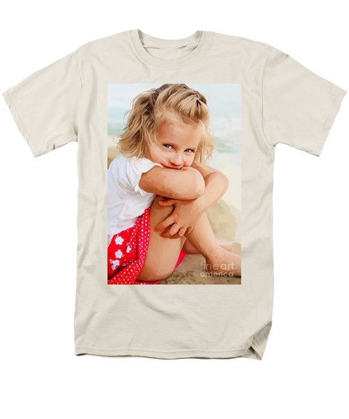 Men's T-Shirt  (Regular Fit) featuring the painting Blue Eyed Girl by Tim Gilliland