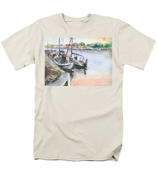 Men's T-Shirt  (Regular Fit) featuring the painting Boats Inshore by Faruk Koksal
