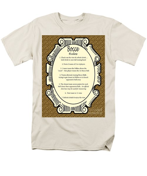 Bocce Men's T-Shirt  (Regular Fit) by Nancy Patterson