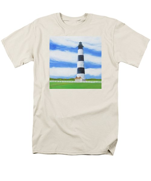 Bodie Island Lighthouse Men's T-Shirt  (Regular Fit) by Anne Marie Brown