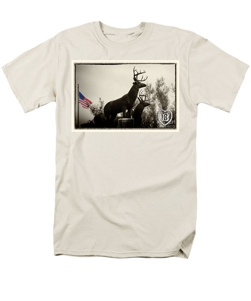 Boldt Castle Deer Men's T-Shirt  (Regular Fit) by Tony Cooper
