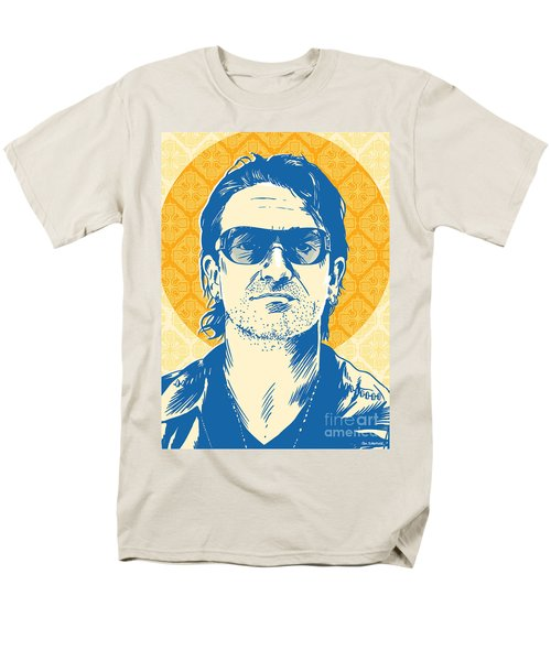 Bono Pop Art Men's T-Shirt  (Regular Fit) by Jim Zahniser