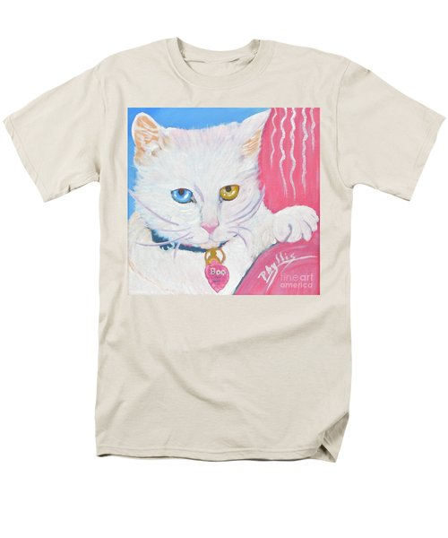 Men's T-Shirt  (Regular Fit) featuring the painting Boo Kitty by Phyllis Kaltenbach