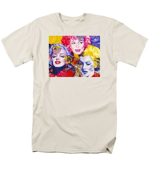 Men's T-Shirt  (Regular Fit) featuring the painting Bouquet Of Marilyn by Rebecca Glaze