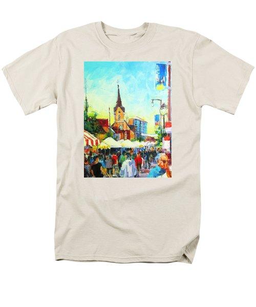 Brady Street Men's T-Shirt  (Regular Fit) by Les Leffingwell