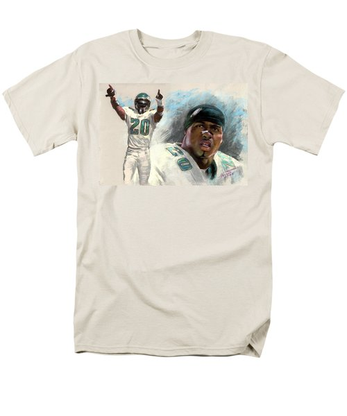 Men's T-Shirt  (Regular Fit) featuring the drawing Brian Dawkins by Viola El