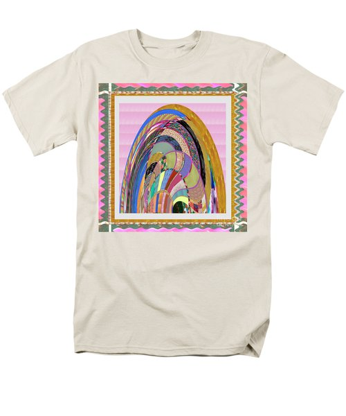 Bride In Layers Of Veils Accidental Discovery From Graphic Abstracts Made From Crystal Healing Stone Men's T-Shirt  (Regular Fit) by Navin Joshi