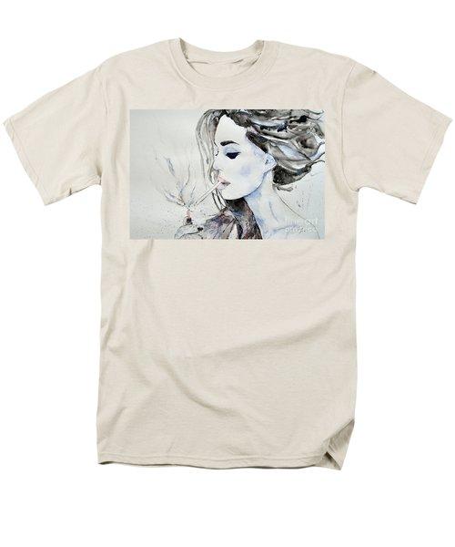 Men's T-Shirt  (Regular Fit) featuring the painting Brigitte Bardot by Ismeta Gruenwald