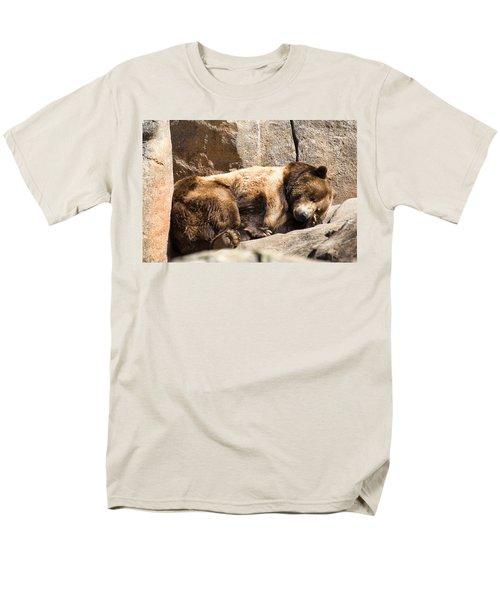 Brown Bear Asleep Again Men's T-Shirt  (Regular Fit) by Chris Flees