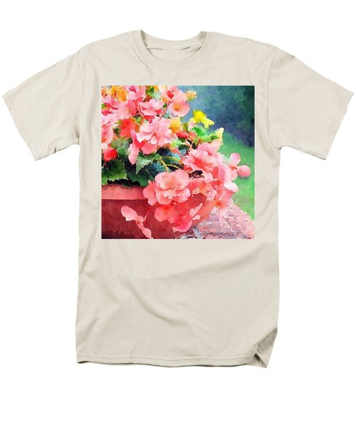 Bucket O Begonias Men's T-Shirt  (Regular Fit) by Anna Porter