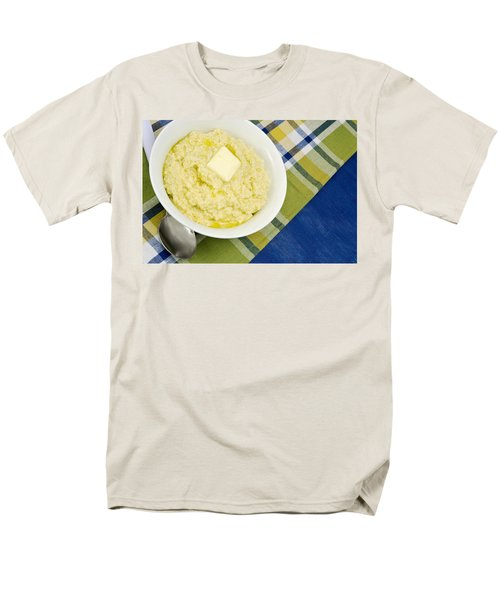Cheese Grits With A Pat Of Butter Men's T-Shirt  (Regular Fit) by Vizual Studio
