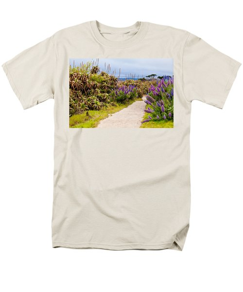 California Coastline Path Men's T-Shirt  (Regular Fit) by Melinda Ledsome