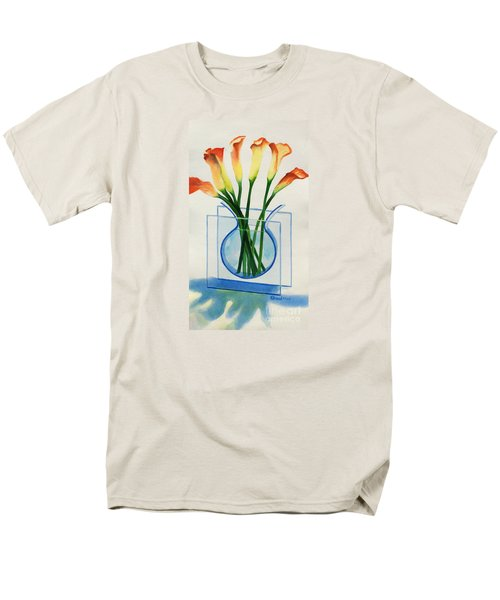 Men's T-Shirt  (Regular Fit) featuring the painting Calla Lilies by Kathy Braud