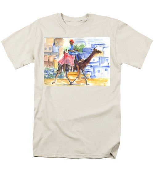 Men's T-Shirt  (Regular Fit) featuring the painting Camel Driver by Carol Wisniewski