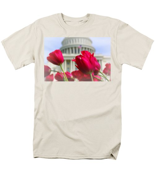 Men's T-Shirt  (Regular Fit) featuring the photograph Capital Flowers  by John S
