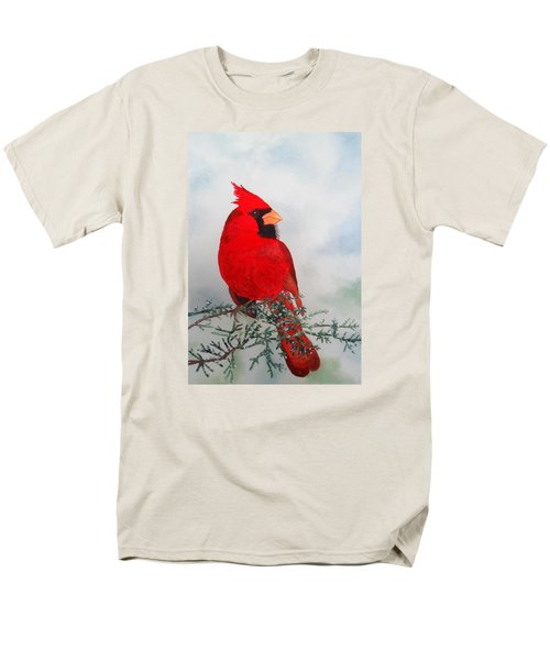 Men's T-Shirt  (Regular Fit) featuring the painting Cardinal by Laurel Best