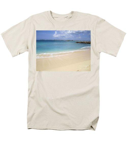 Men's T-Shirt  (Regular Fit) featuring the photograph Caribbean Beach Front by Fiona Kennard