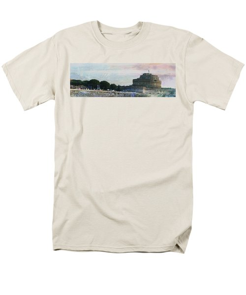 Men's T-Shirt  (Regular Fit) featuring the painting Castel Sant'angelo     by Brian Reaves