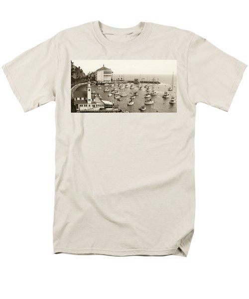 Catalina Island. Avalon Men's T-Shirt  (Regular Fit) by Ben and Raisa Gertsberg
