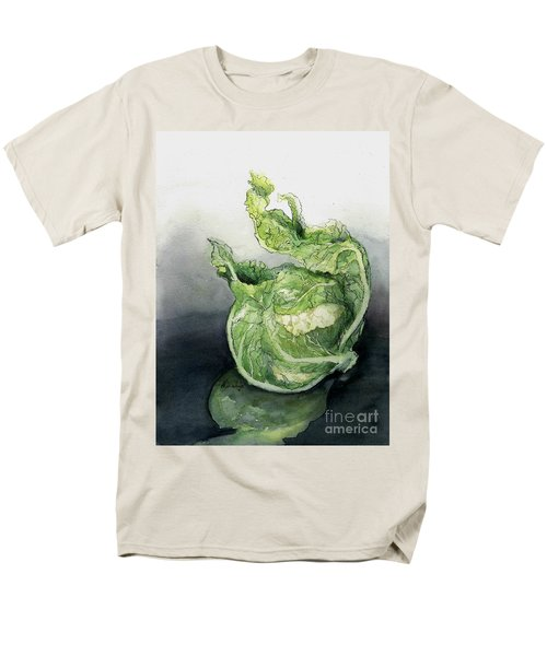 Cauliflower In Reflection Men's T-Shirt  (Regular Fit) by Maria Hunt