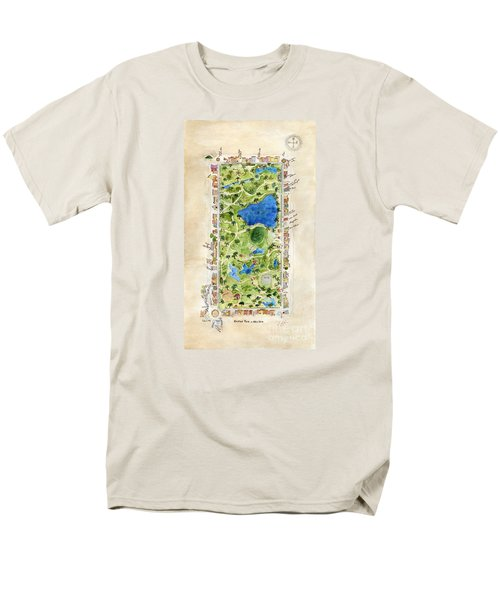 Central Park And All That Surrounds It Men's T-Shirt  (Regular Fit) by AFineLyne