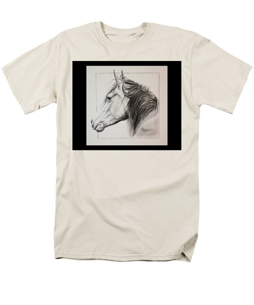 Men's T-Shirt  (Regular Fit) featuring the drawing Champion by Rachel Hames