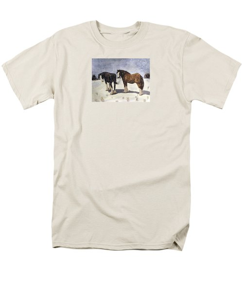 Men's T-Shirt  (Regular Fit) featuring the painting Chance Of Flurries by Angela Davies
