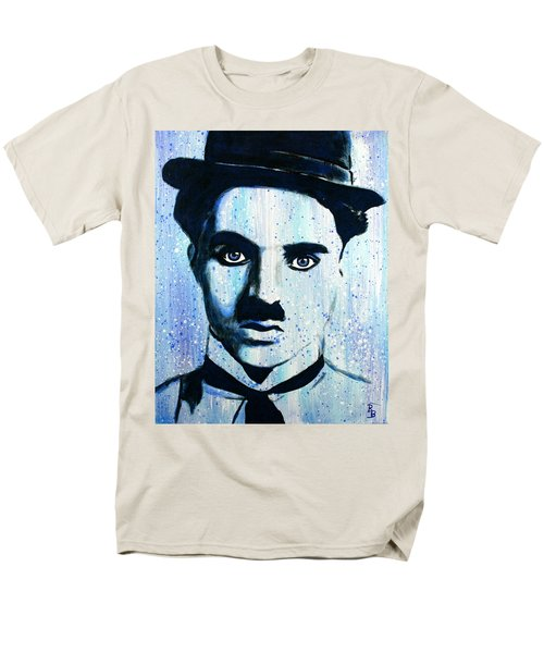 Charlie Chaplin Little Tramp Portrait Men's T-Shirt  (Regular Fit) by Bob Baker