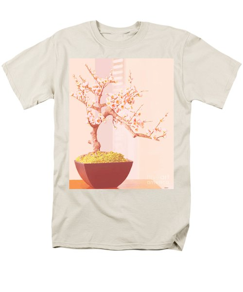 Cherry Bonsai Tree Men's T-Shirt  (Regular Fit) by Marian Cates