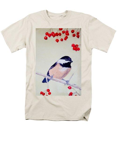 Chickadee Men's T-Shirt  (Regular Fit) by Laurel Best