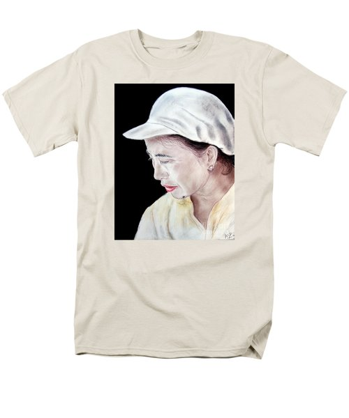 Men's T-Shirt  (Regular Fit) featuring the drawing Chinese Woman With A Facial Mole by Jim Fitzpatrick
