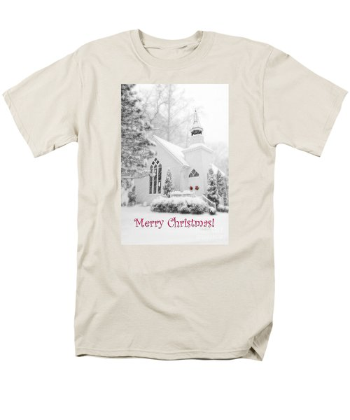 Historic Church Oella Maryland - Christmas Card Men's T-Shirt  (Regular Fit) by Vizual Studio