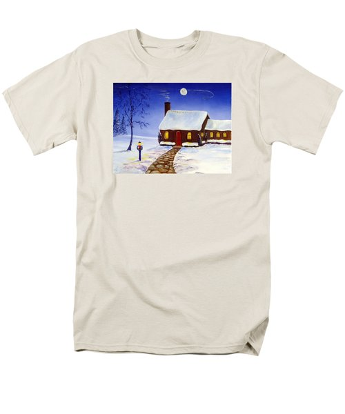 Men's T-Shirt  (Regular Fit) featuring the painting Christmas Eve by Lee Piper