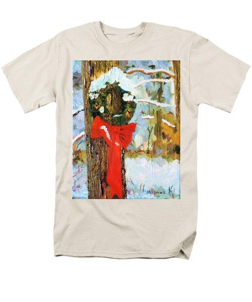 Christmas Wreath Men's T-Shirt  (Regular Fit) by Michael Daniels