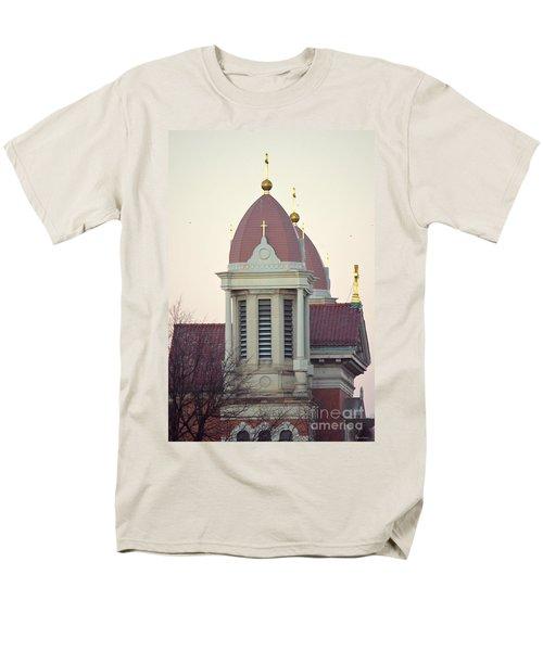 Church Of Gold Crosses Men's T-Shirt  (Regular Fit) by Maria Urso