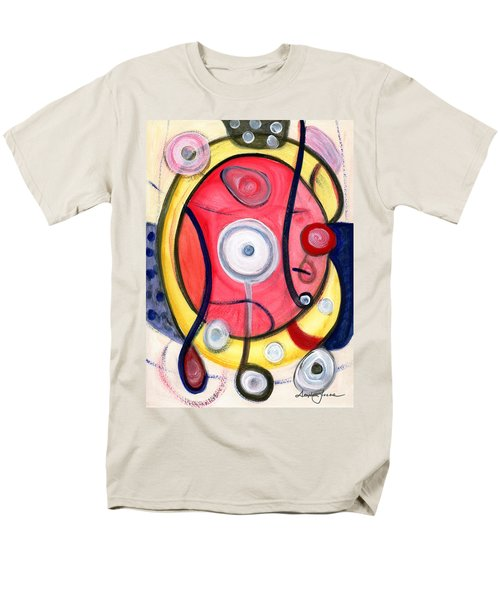 Men's T-Shirt  (Regular Fit) featuring the painting Circle For Lovers by Stephen Lucas