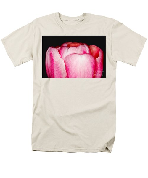 Men's T-Shirt  (Regular Fit) featuring the photograph Close-up Of A Pink Tulip by Nick  Biemans