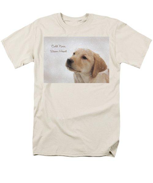Cold Nose Warm Heart Men's T-Shirt  (Regular Fit) by Lori Deiter