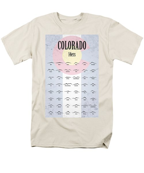 Men's T-Shirt  (Regular Fit) featuring the photograph Colorado 14ers Poster by Aaron Spong