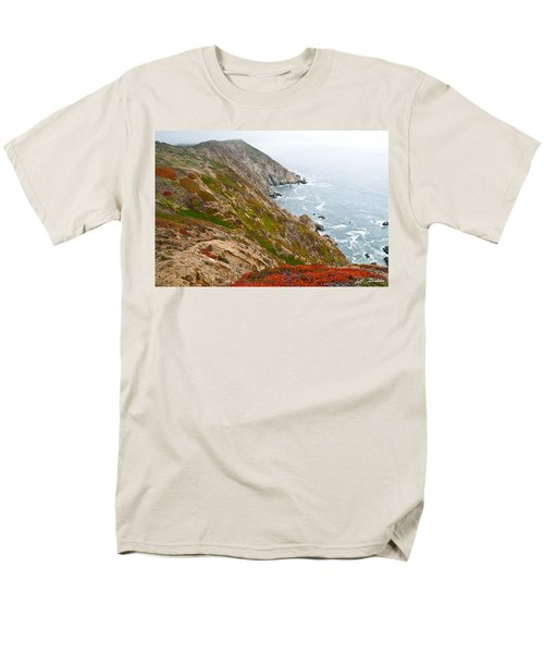 Men's T-Shirt  (Regular Fit) featuring the photograph Colorful Cliffs At Point Reyes by Jeff Goulden