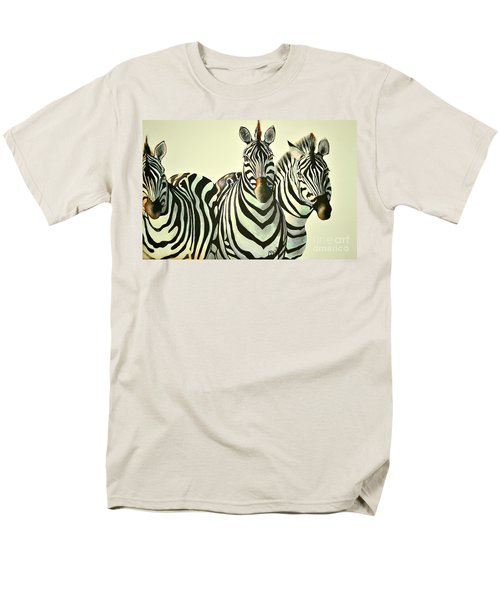 Men's T-Shirt  (Regular Fit) featuring the painting Colorful Zebras Painting by Maja Sokolowska