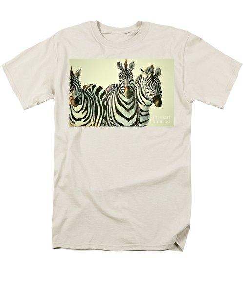 Colorful Zebras Painting Men's T-Shirt  (Regular Fit)