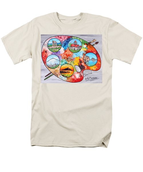 Colori Di Sicilia Men's T-Shirt  (Regular Fit) by Loredana Messina