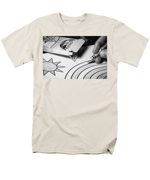 Coloring Without Color Men's T-Shirt  (Regular Fit) by Tom Gort