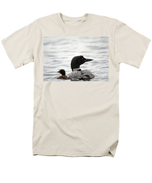Common Loon And Baby Men's T-Shirt  (Regular Fit) by Cheryl Baxter