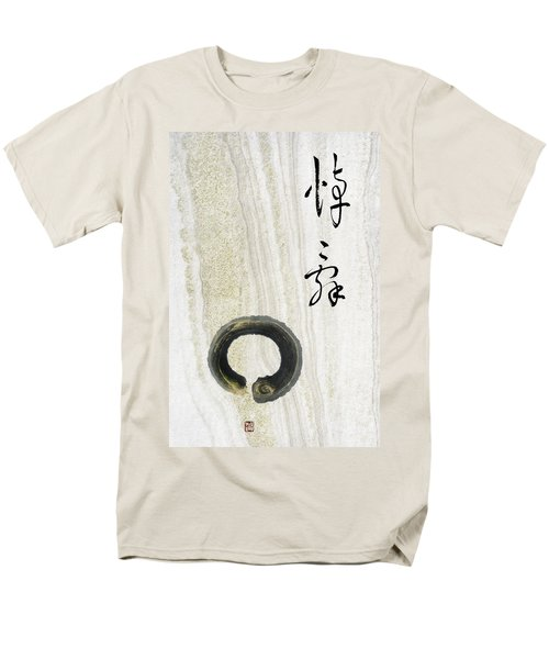 Men's T-Shirt  (Regular Fit) featuring the mixed media Condolences Tooji With Enso Zencircle by Peter v Quenter