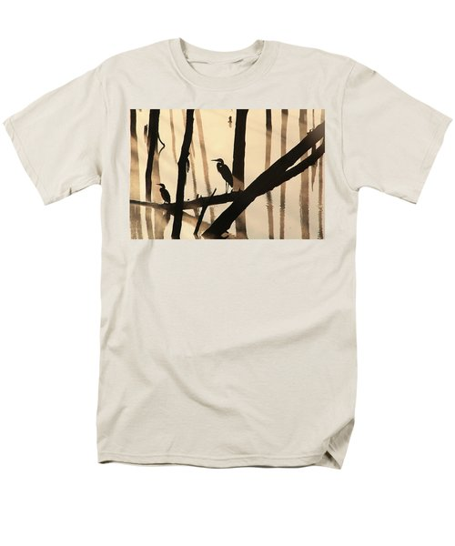 Cormorant And The Heron Men's T-Shirt  (Regular Fit) by Roger Becker