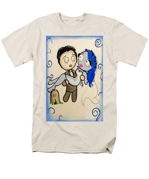 Men's T-Shirt  (Regular Fit) featuring the painting Corpse Bride by Marisela Mungia