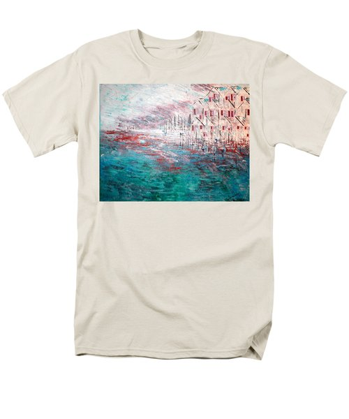 Cottages On The Bay  Men's T-Shirt  (Regular Fit) by George Riney
