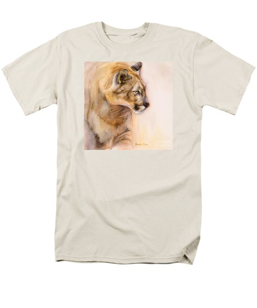 Cougar On The Prowl Men's T-Shirt  (Regular Fit) by Bonnie Rinier